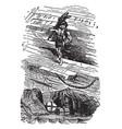robinson crusoe looting the wreck vintage vector image vector image