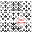 Royal floral seamless patterns set vector image vector image