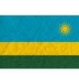 Rwanda paper flag vector image vector image