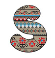 S letter decorated vector image vector image
