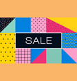 sale poster with memphis colorful geometric design vector image vector image
