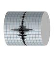 seismograph recording vibrations earthquakes vector image vector image