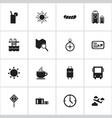 Set of 16 editable journey icons includes symbols