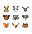 set of animals over white background vector image