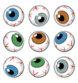 set of eyeball symbols vector image vector image