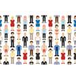 set pixel people vector image