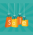 shopping sales discount vector image vector image