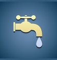 Simple icon tap water vector image vector image