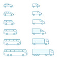 size transport icon set compact vector image