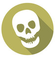 skull icon a long shadow vector image vector image