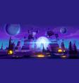space game background neon night alien landscape