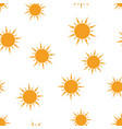 sun icon seamless pattern background business vector image