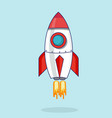 with a rocket flat design vector image