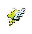 zzz cartoon comic book snore sound cloud bubble vector image