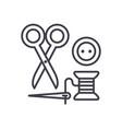 sewingscissors thread needle button vector image