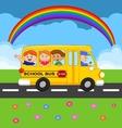 Cartoon school Bus With Happy Children vector image