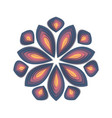 paper cut flower vector image