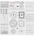 Doodle point pattern brusheswreathframeburst vector image