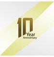 10 year anniversary template design gold elegant
