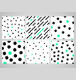 abstract black geometric pattern set with random vector image vector image