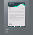 abstract element letterhead design for business vector image