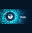 abstract music background sound web banner vector image