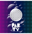 Abstract party poster design vector image vector image