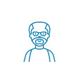 aged man linear icon concept aged man line vector image vector image