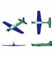 airplane tucano colored vector image vector image