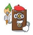 artist speaker character cartoon style vector image