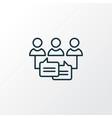 audience engagement icon line symbol premium vector image