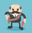 bald businessman is head cowboy vector image