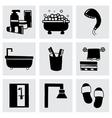 Bathroom icon set vector image vector image