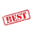 Best rubber stamp vector image vector image