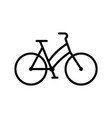 bike web sport line icon bicycle sign vector image vector image