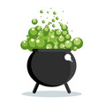 black witch cauldron vector image vector image