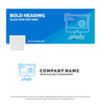 blue business logo template for command computer vector image