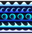 blue tones gradient waves vector image vector image
