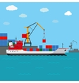 Cargo ship Freight shipping by water vector image vector image