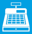 cash register icon white vector image vector image