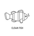 clown fish icon vector image vector image