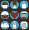 Coffee and chocolate set vector image vector image