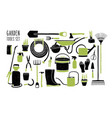 collection of gardening tools isolated on white vector image vector image