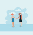 couple of women friends characters vector image