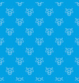 cow head pattern seamless blue vector image vector image