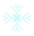 cute blue snowflake vector image