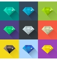 Diamond set in flat design vector image