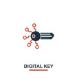 digital key icon creative two colors design from vector image vector image