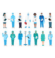 doctor and nurse set vector image vector image