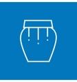 Drum instrument line icon vector image vector image